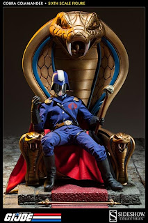 "Sideshow Collectibles GI Joe 1/6 Scale Cobra Commander v2 F12"" Figure"