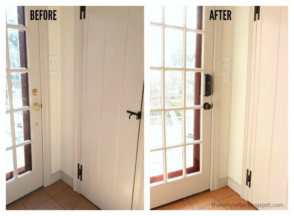 schlage sense smart deadbolt installed before after