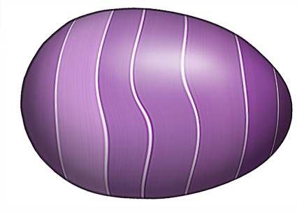 different Easter Eggs each with a different swirly striped pattern