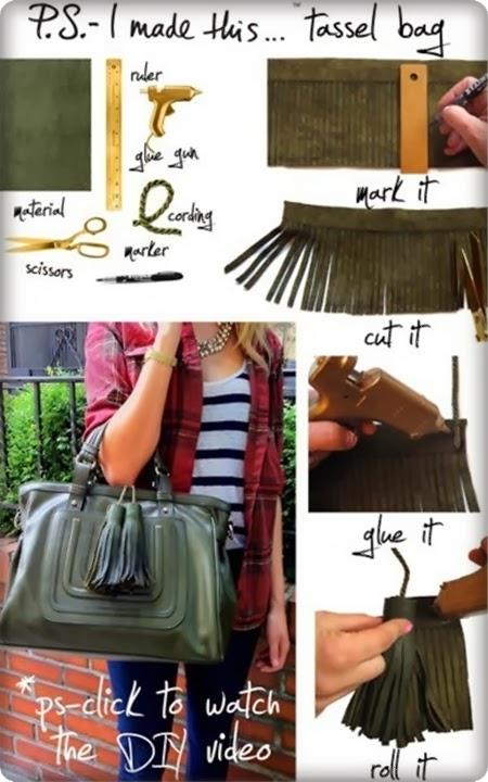 como fazer franjas para bolsa