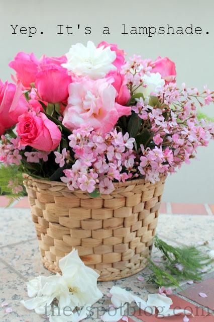 basket, weave, flowers, floral, arrangement, centerpiece, roses, pink, spring, centerpiece