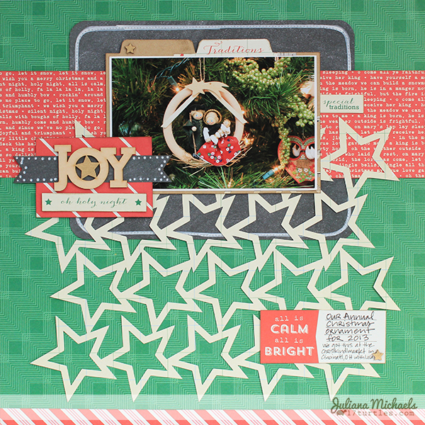 Joy Layout by Juliana Michaels #ellesstudio #digitalcutfile