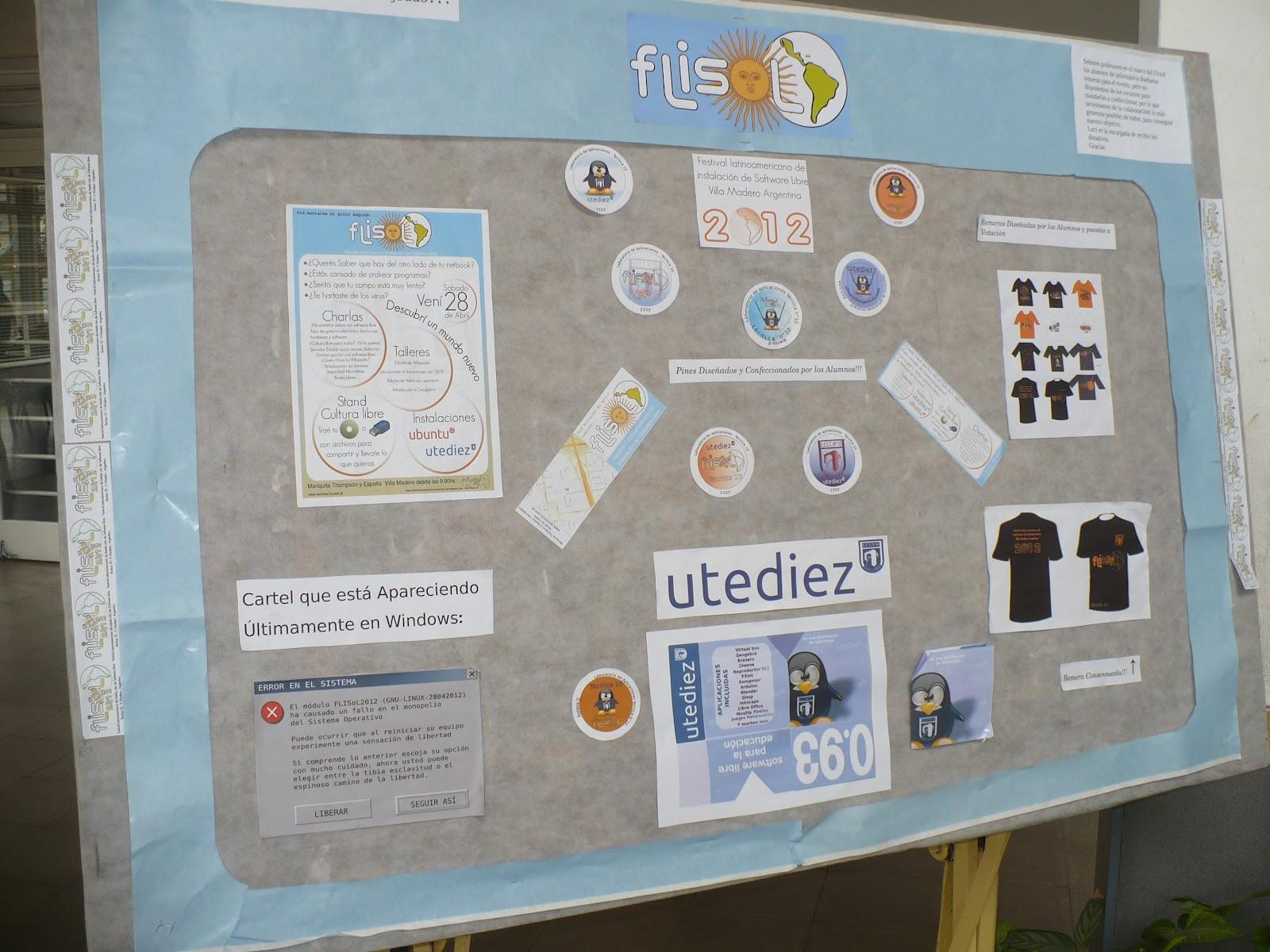 Me encontré con toda una escuela que armó un FLISoL como un proyecto  educativo. En la que prepararon el evento a todo pulmón. 633d43cf3a1de