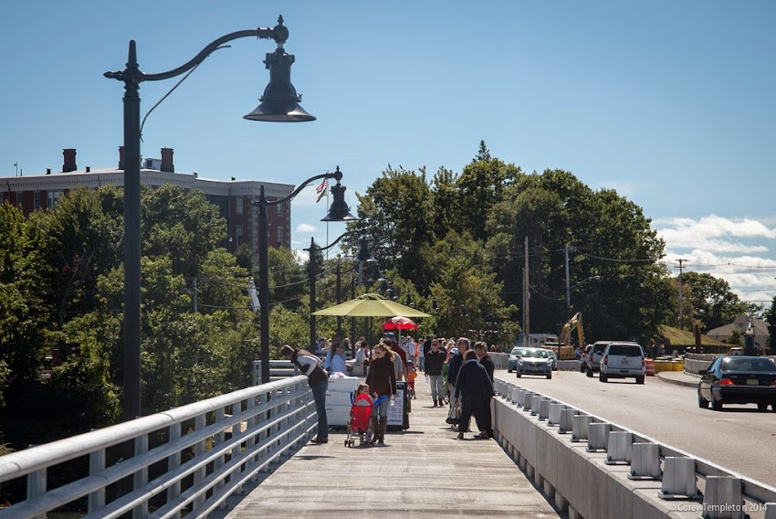 Martin's Point Bridge between Portland, Maine and Falmouth, Maine. September 2014. Photo by Corey Templeton.
