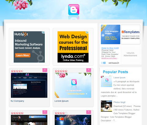 Kute Template Blogger Theme