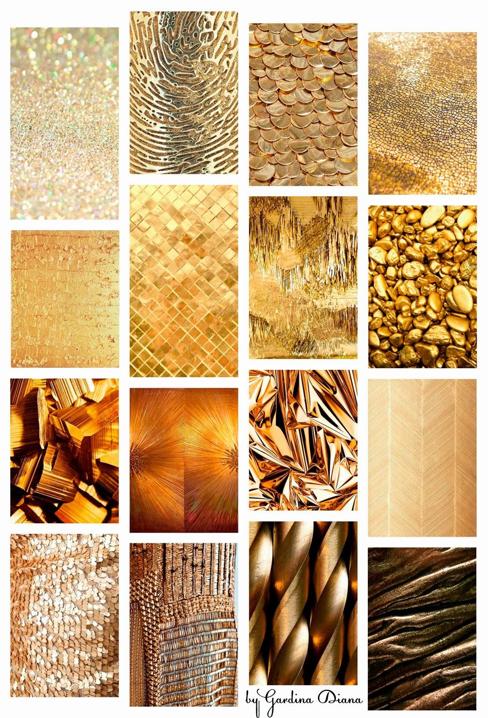 Разнообразные золотые текстуры: вдохновение золотым цветом