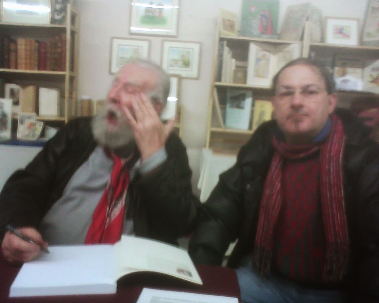 COUTARELLI  AVEC  JEAN  PIERRE  DESCLOUZEAUX  IN  CHAMBERET  BOOK  SALON  15/2/15