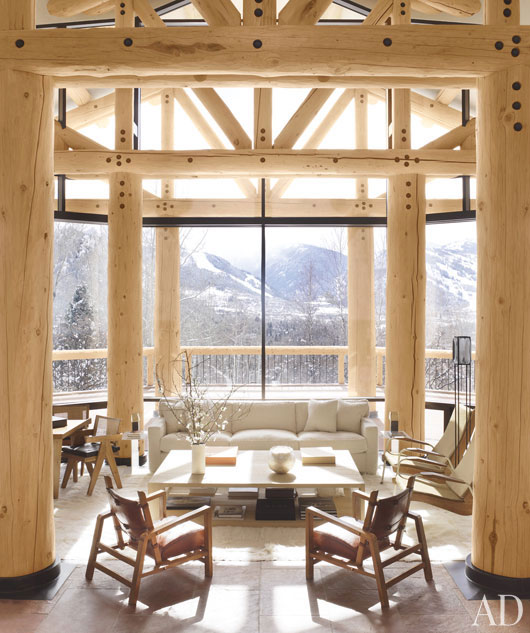 Refresheddesigns A Cozy And Contemporary Ski Lodge