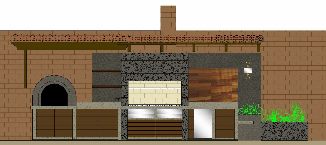 Oniria obra en proceso parrilla en terraza - Parrillas de obra ...