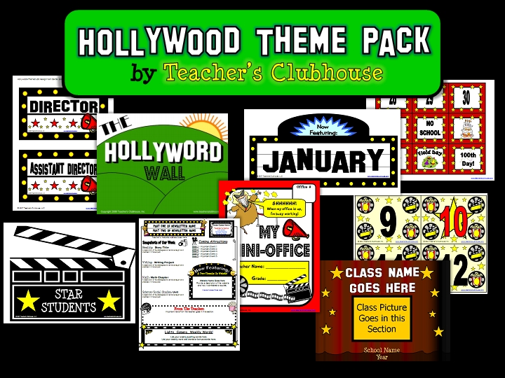 Classroom Decor Packs ~ Friday flashback shout out themes a giveaway