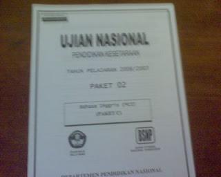 Kisi Kisi Ujian Nasional 2012