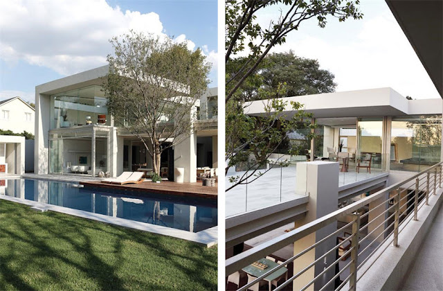 Terrace and balcony of Modern Luxury House In Johannesburg