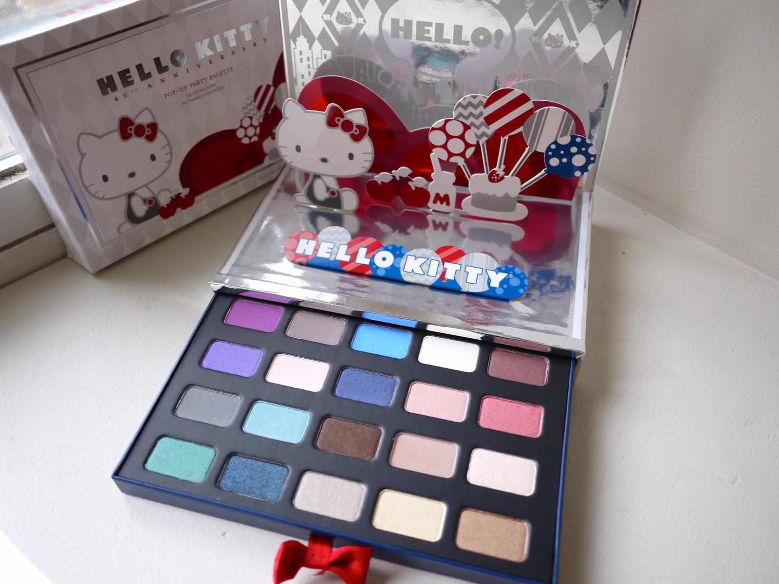 Hello Kitty Pop-Up Party Eyeshadow Palette* swatches and review