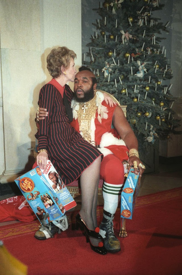 Mr. T Santa Clause and Nancy Reagan