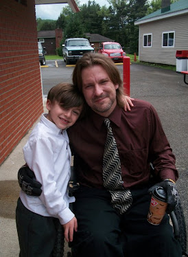Sgt Ron and his nephew Charlie, After Charlie's first communion