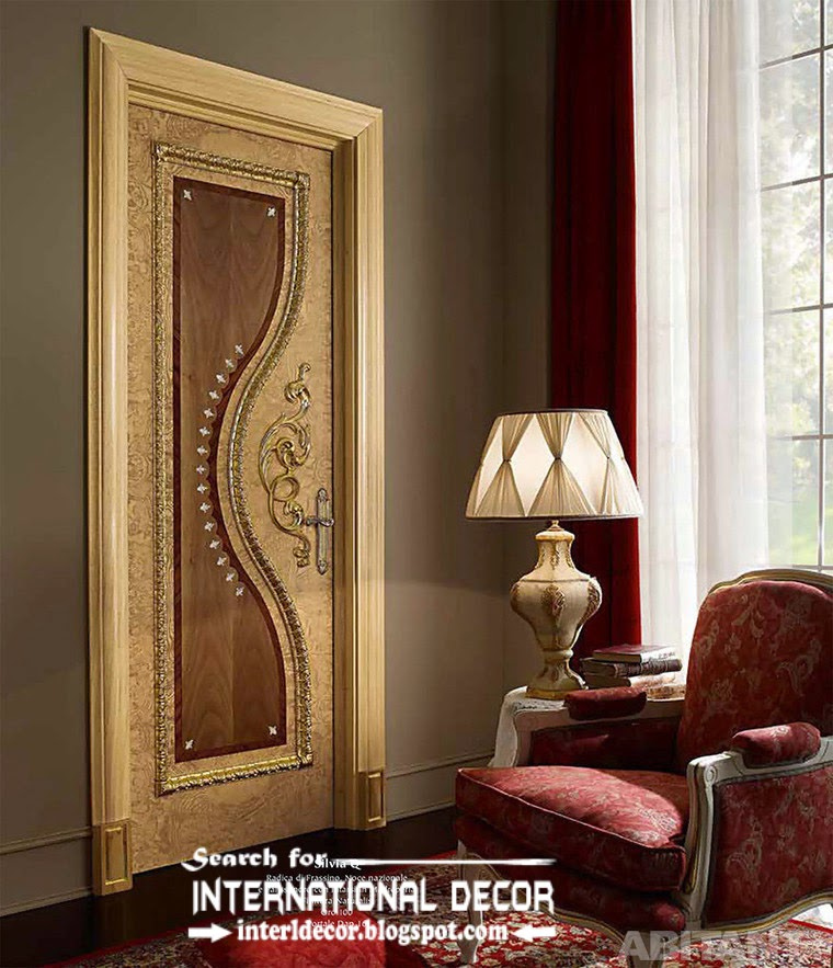 Top designs of luxury interior doors for classic interior for Bedroom door designs