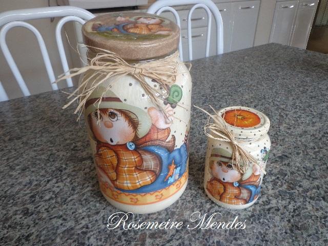 Artes em croche e pintura decoupage em vidros - Pintura para decoupage ...
