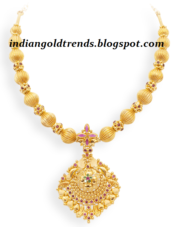 Gold Jewellery Necklaces Check Out Gold Beads Necklace