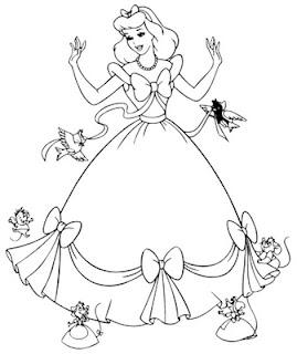 Desenhos Para Colori vestidos  desenhar