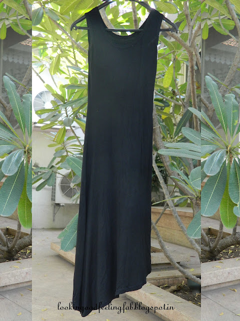 how to wear a black maxi dress