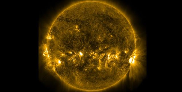 Solar image courtesy of NASA's Solar Dynamics Observatory