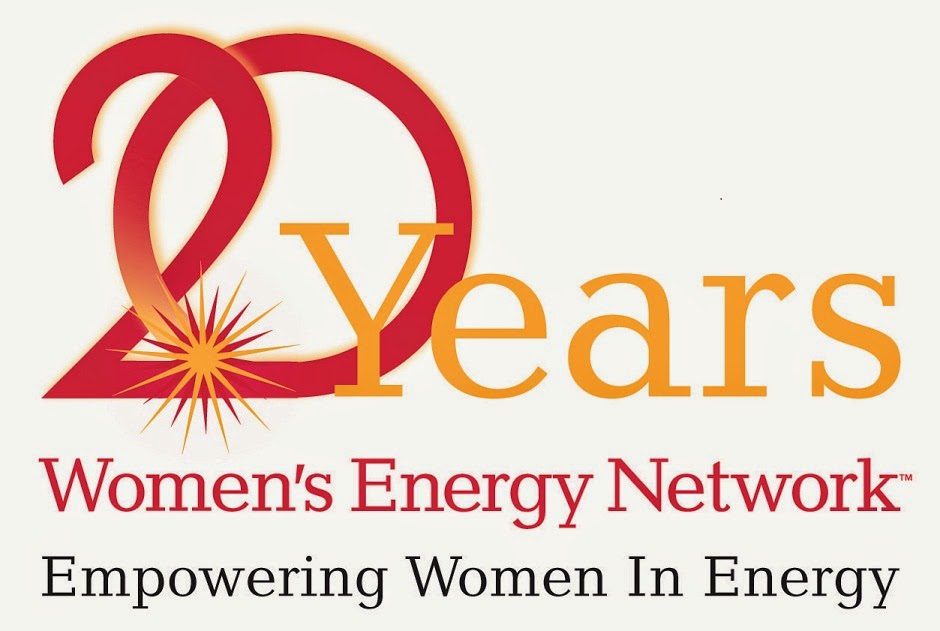 Women in Energy logo for 20 year celebration