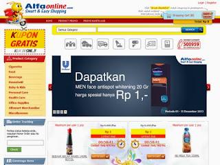 Toko belanja online murah, Promo heboh jual barang hanya Rp 1,- hanya di Alfaonline.com