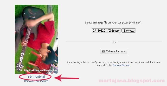 Jalankan kursor anda pada foto (perhatikan gambar di bawah). atur lah
