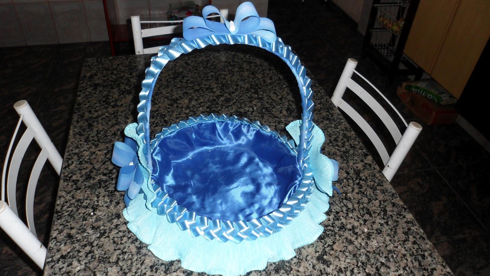 Leila Artesanatos cesta de chá de bebê