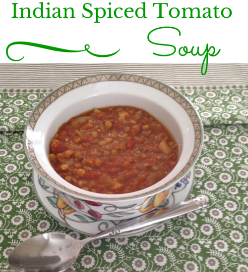 tomato lentil soup with Indian spices