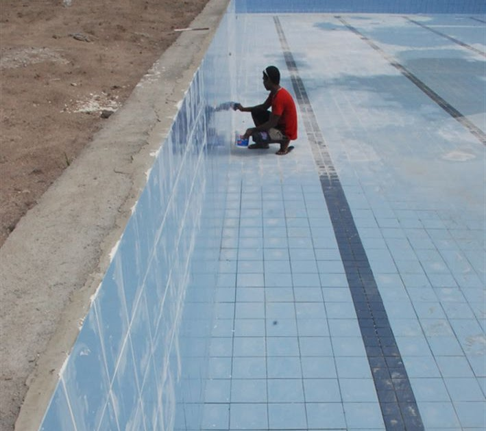 Blog por simas coloca o de rejunte na piscina semi ol mpica for Piscina municipal pinto