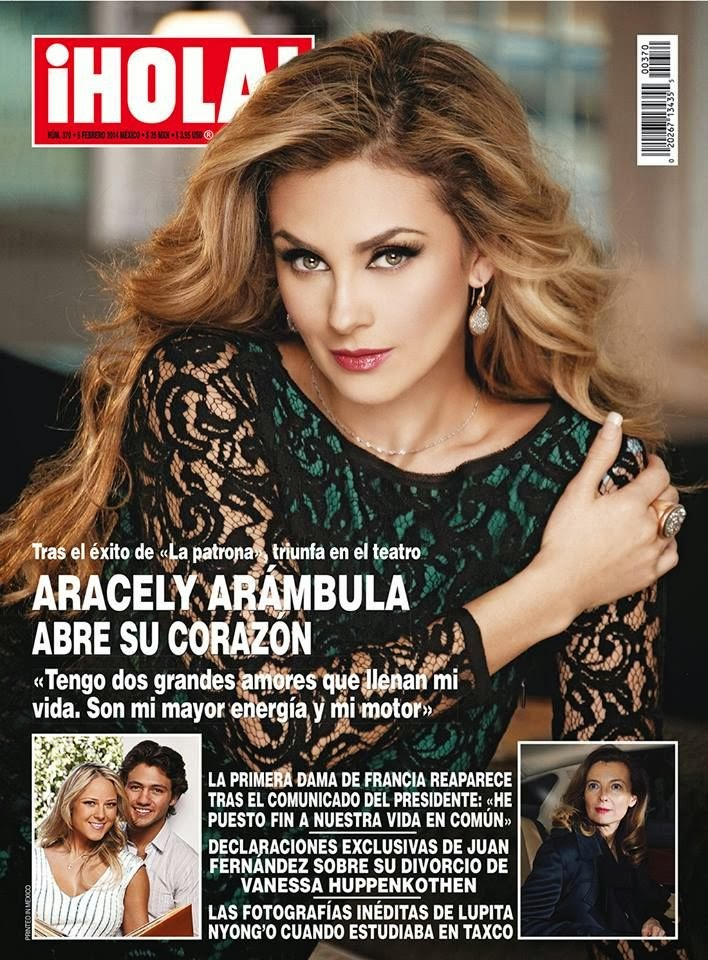 Aracely Arámbula Photos from Hola Mexico Magazine Cover February 2014 HQ Scans