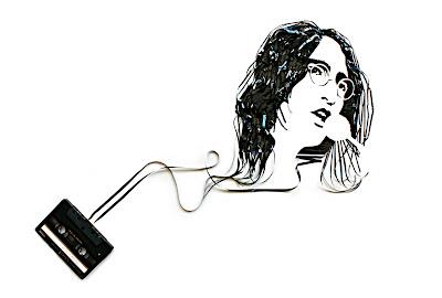 Cassette tape art illustration for the Sunday Times Magazine published September 6th. On canvas, 2009. Art Direction Alyson Waller