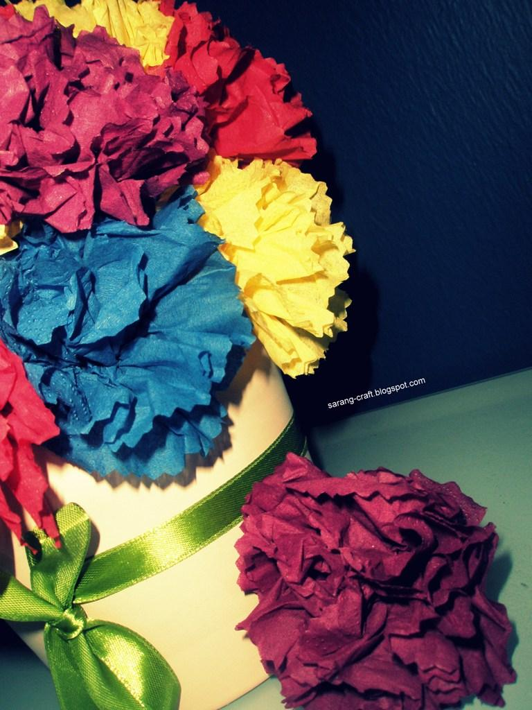 Sarang Craft My Weekend Project 1 Tissue Paper Flower