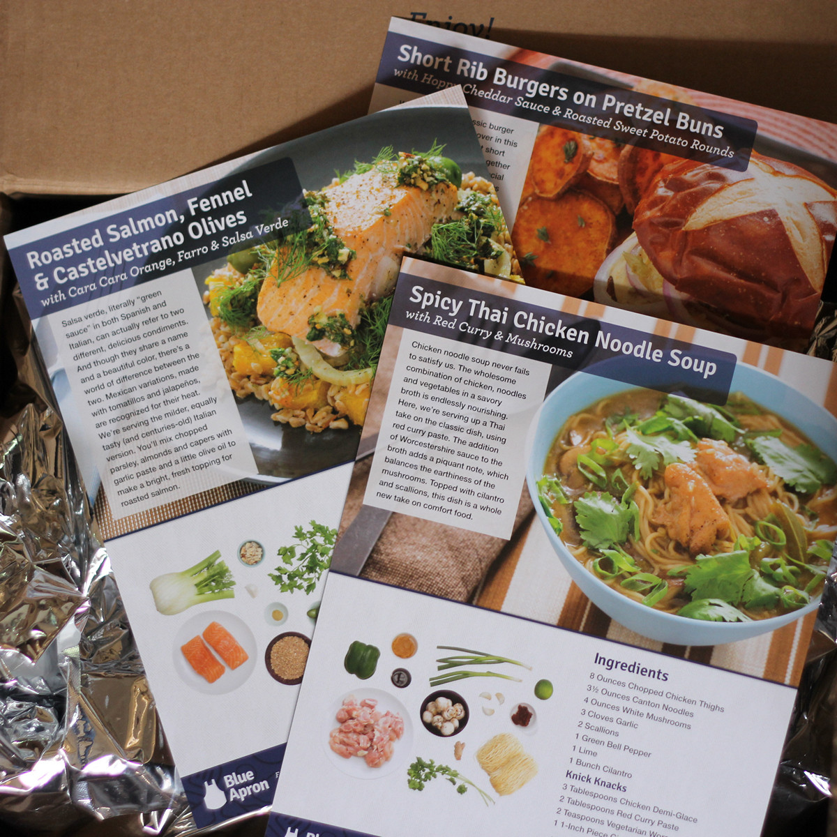 Blue apron salmon - Recipe Cards From Blue Apron