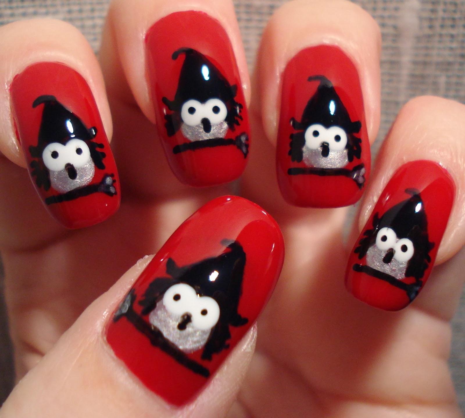 Little Miss Nailpolish Witches Nail Art
