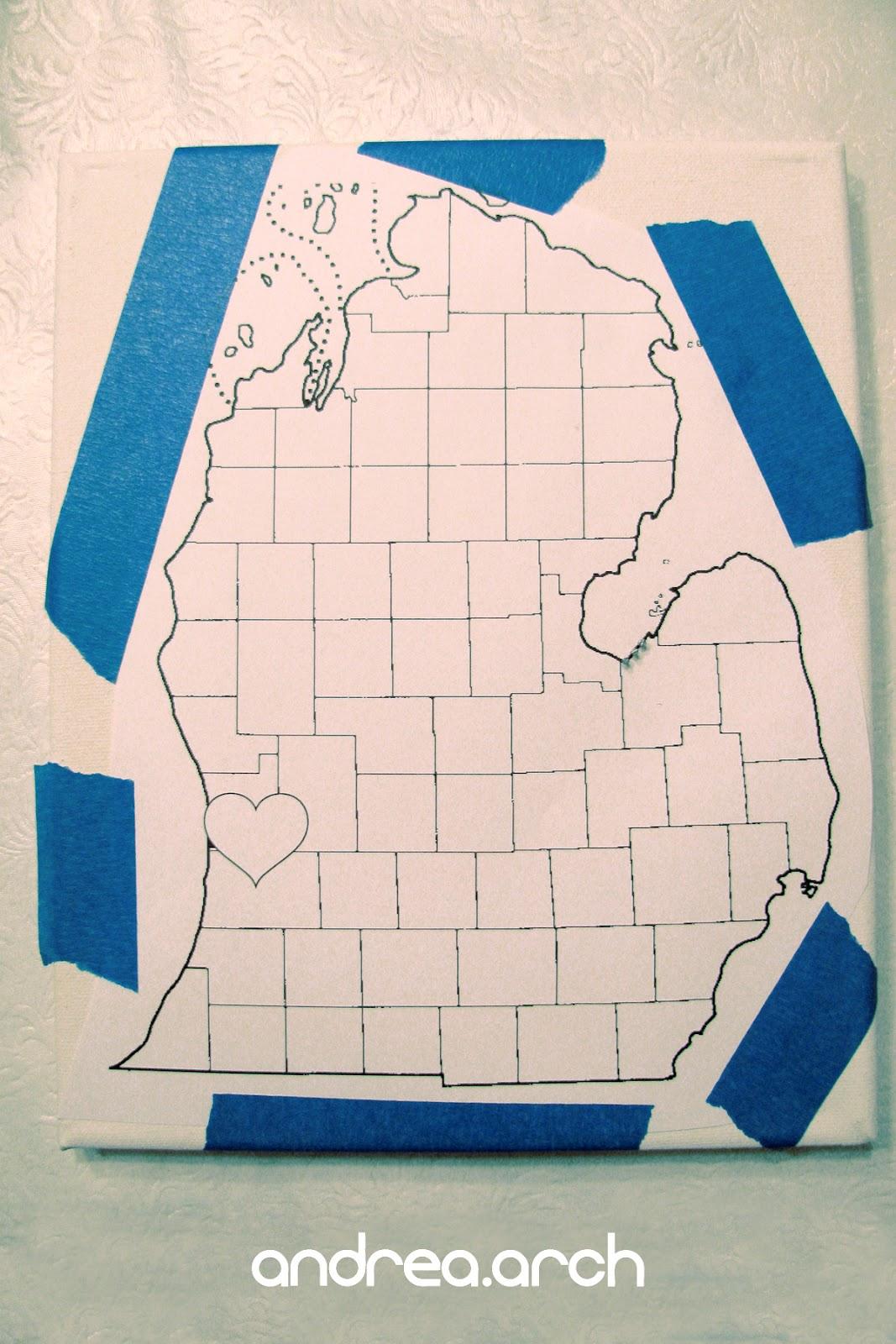 Andrea Arch Diy Michigan String Canvas