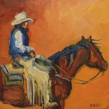 COWBOY ART OIL PAINTING DAILY PAINTING D WHITEHEAD NOVEMBER 9