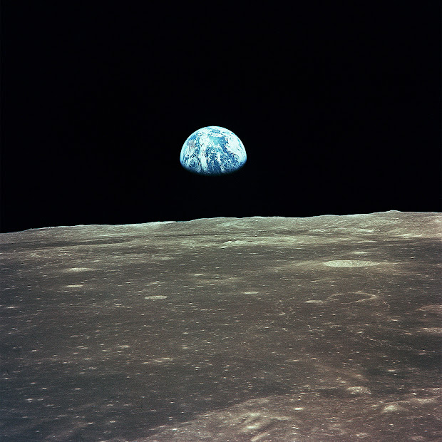 Apollo 11 - Earthrise over the Moon