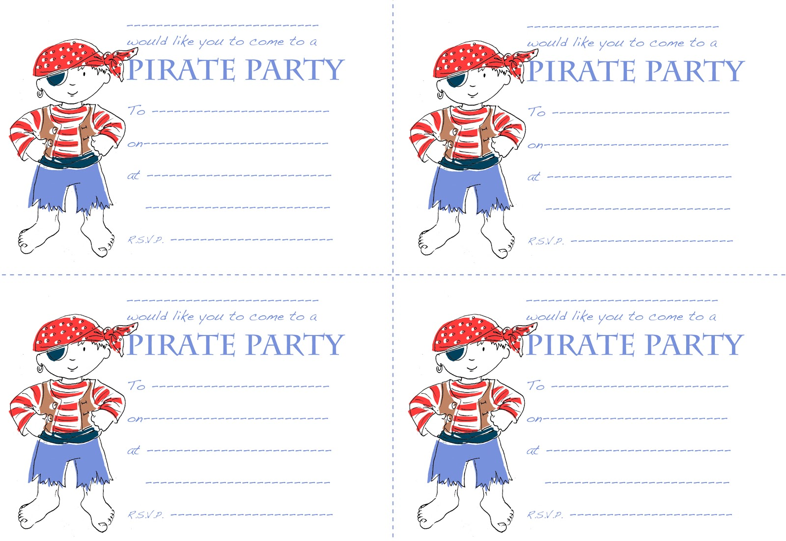 Woodle Doo: Pirate Party Invitations For You