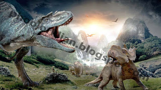 dinosaurs fight