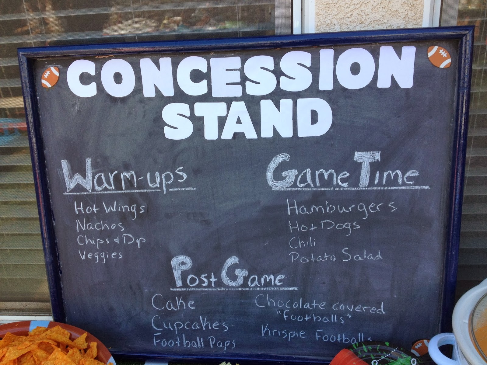 Standing Football Football Concession Stand