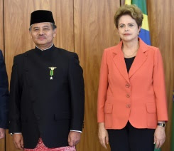 Brazilian President Dilma Rousseff accepted the diplomatic credentials of Toto Riyanto, Indonesia's new ambassador