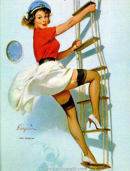 Let 39 s share the world of fantasy vintage pin up girls illustrations - Photo pin up ...