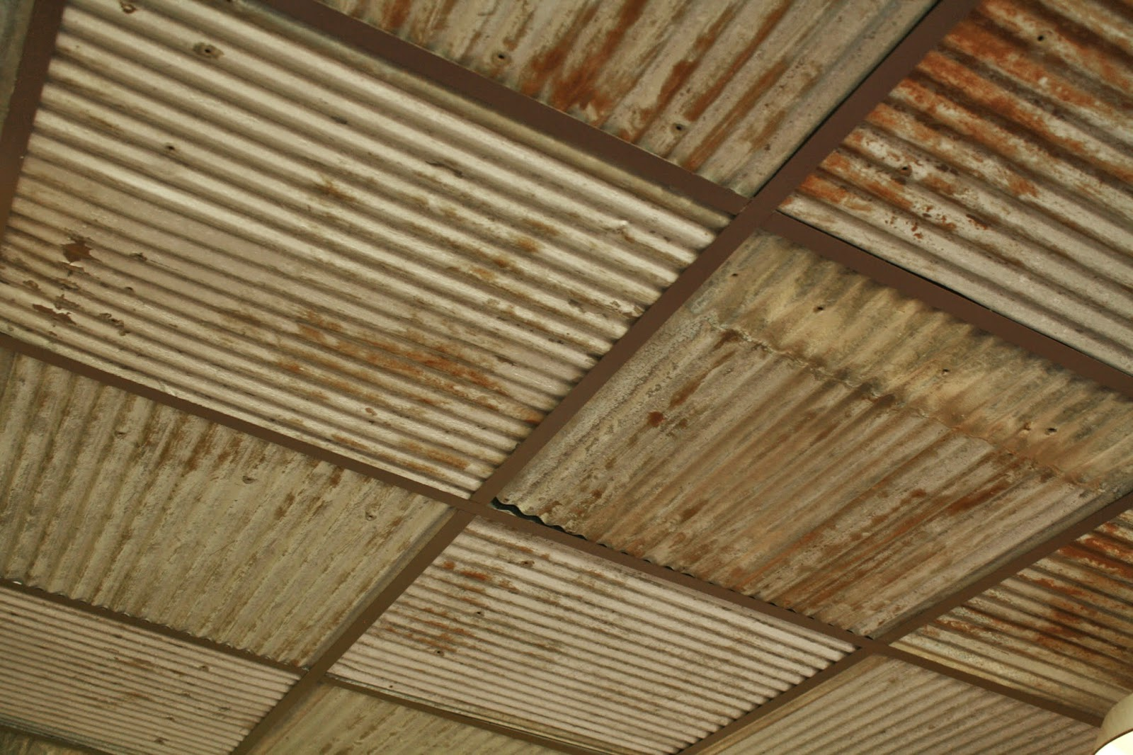 Rustic tin ceiling top coffered wood ceiling home office best antique reclaimed tin rusted tin rustic barn tin elmwood with rustic tin ceiling dailygadgetfo Gallery