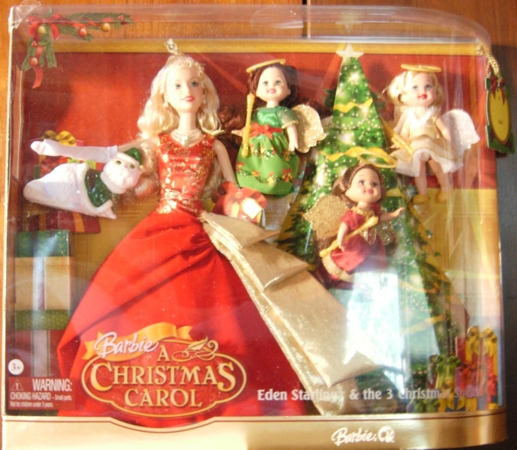 this product to mattel the child you have to offer a gift to be truly welcome because it is not just a feature barbie as eden starling but also a cat - Barbie Christmas Carol