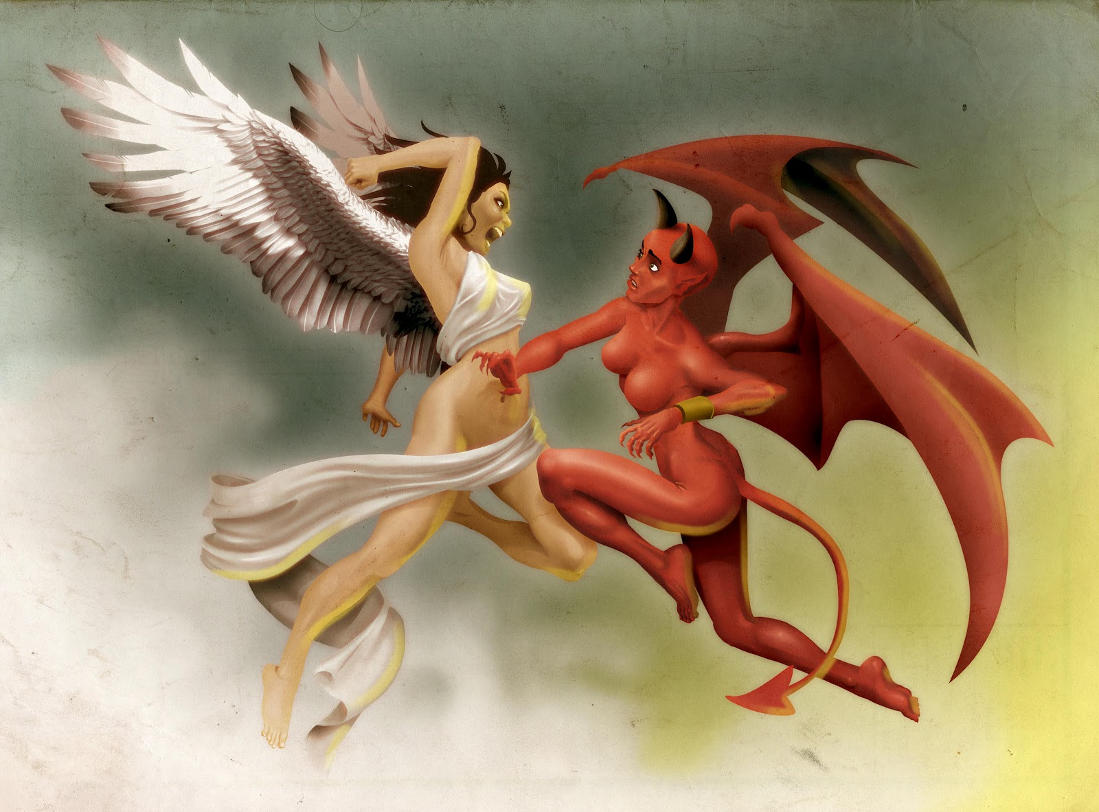Angel vs devil girls