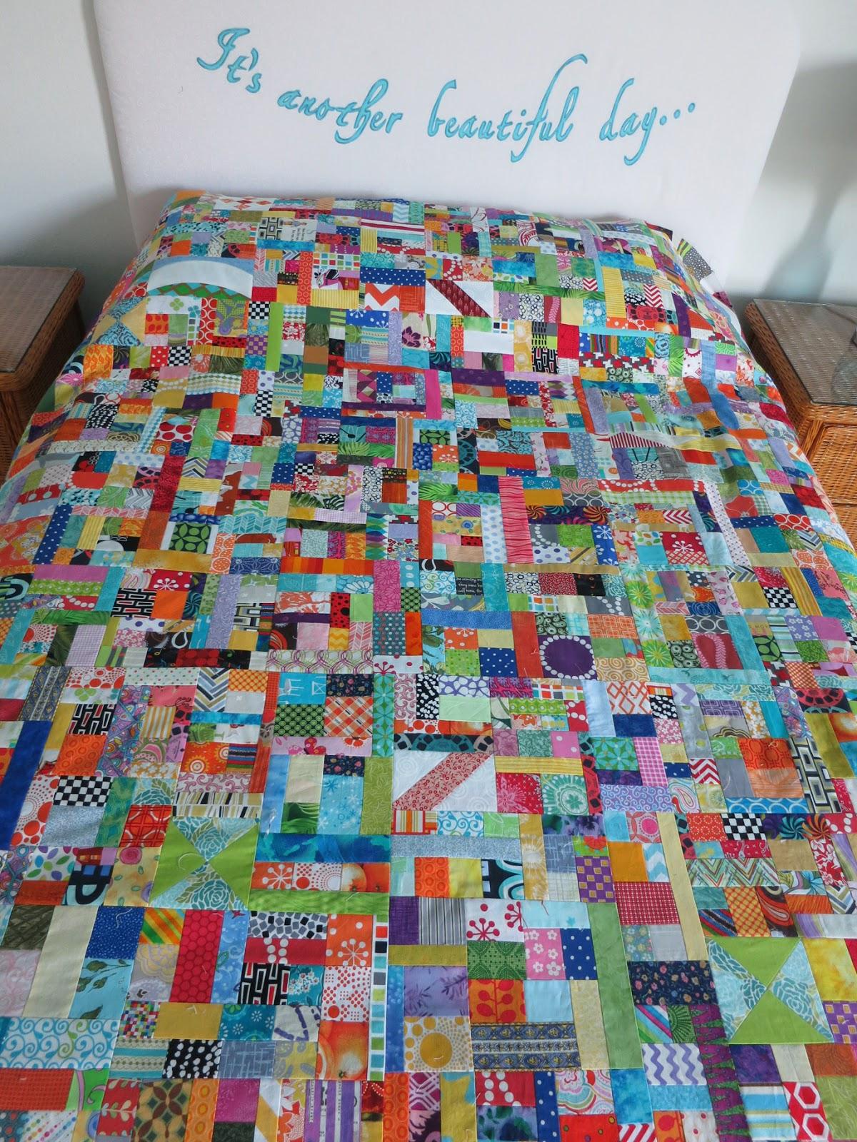 Crazy mom quilts scrap vortex qal week 5 for Scrap quilt