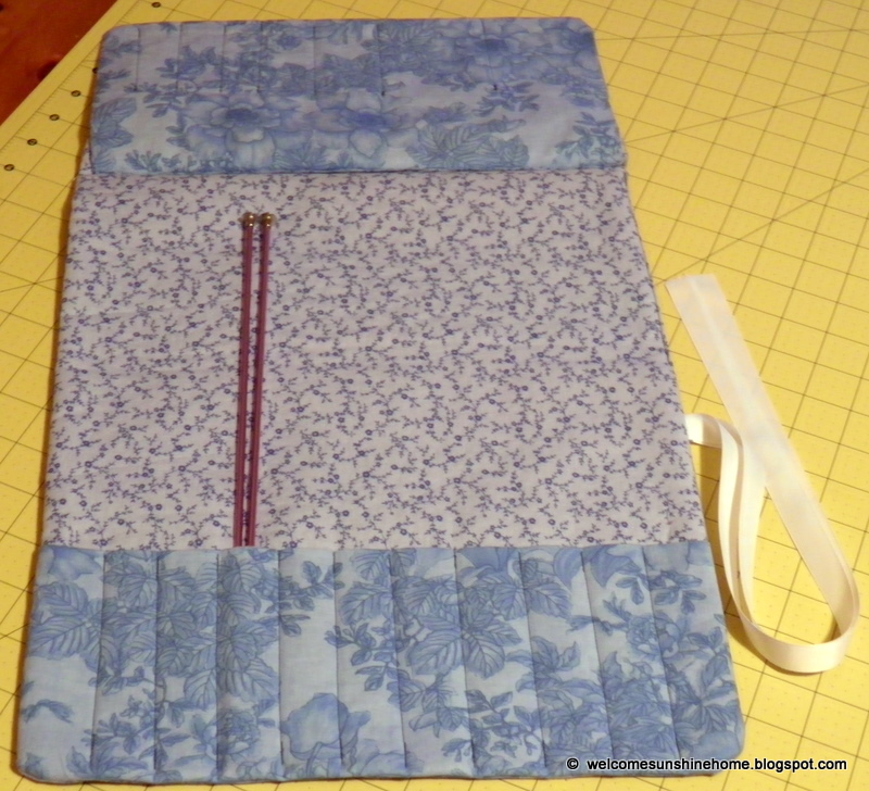 Knitting Needle Roll Pattern : Welcome Sunshine Home: Sewing Pouch and Knitting Needle Roll up