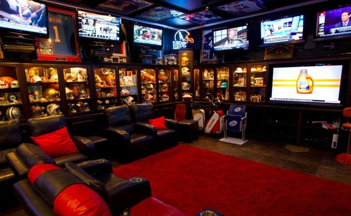 ultimate sports man cave the ultimate man cave